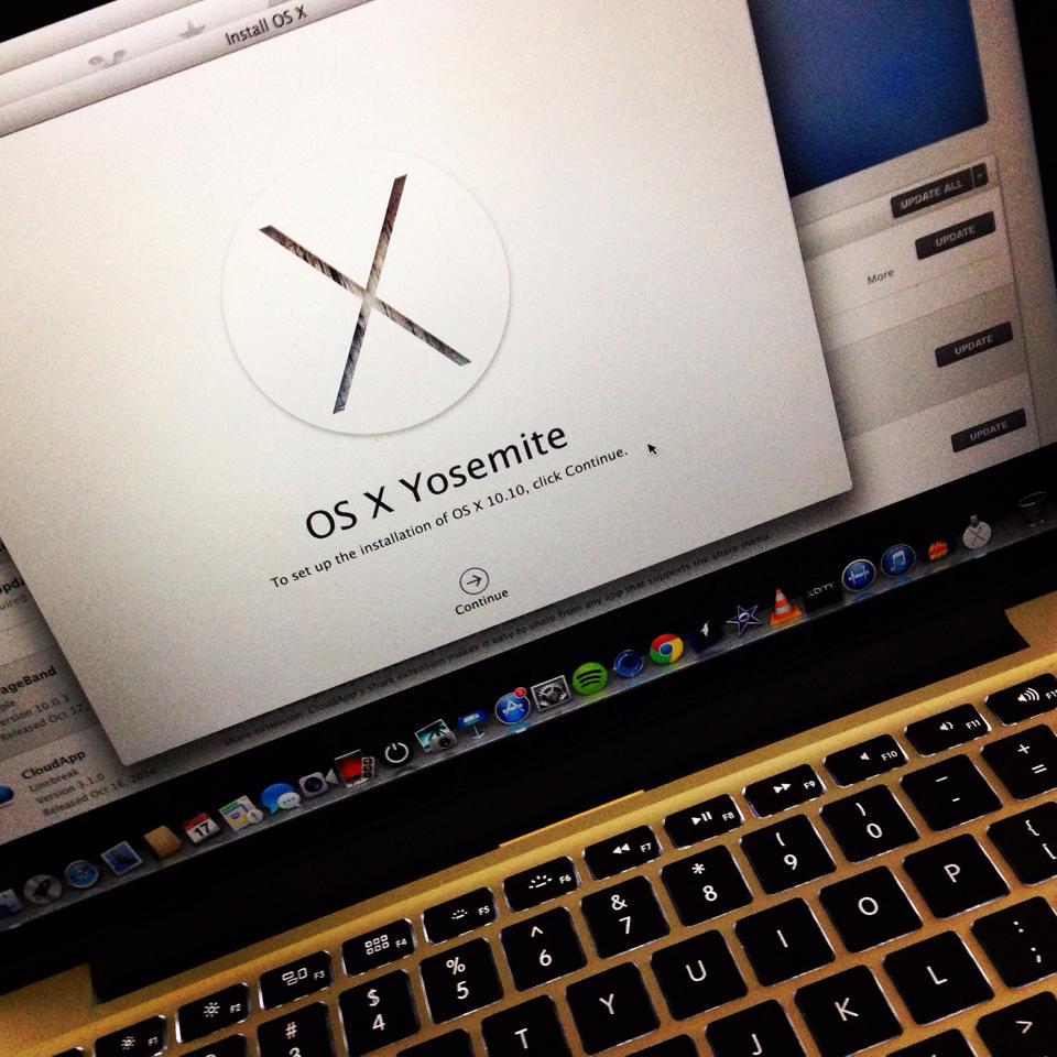 Update Yosemite Apple