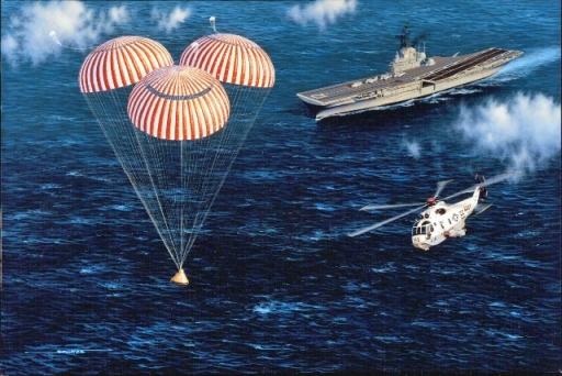 Image result for apollo 11 splashdown