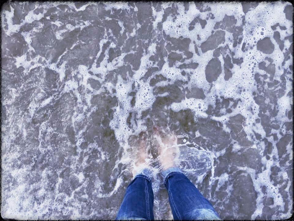 Touching the ocean